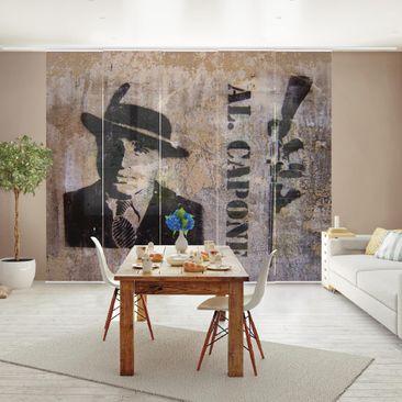 Produktfoto Schiebegardinen Set - Al Capone - 5 Flächenvorhänge