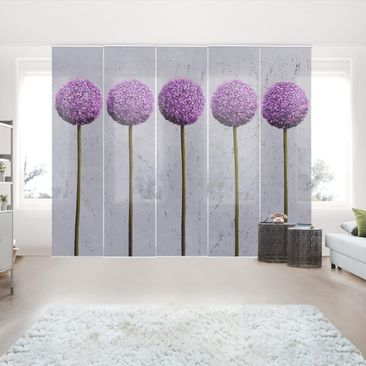 Product picture Sliding curtains set - Allium Ball...
