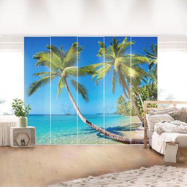 Produktfoto Schiebegardinen Set - Beach of Thailand - 5 Flächenvorhänge