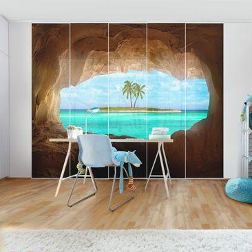 Immagine del prodotto Tende scorrevoli set - View Into Paradise  - 5 Pannelli