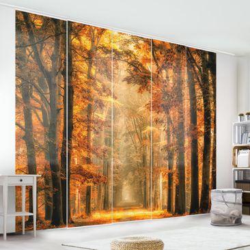 Immagine del prodotto Tende scorrevoli set - Fairy Forest In Autumn  - 5 Pannelli