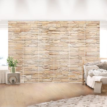 Immagine del prodotto Tende scorrevoli set - Asian Stonewall - Large Brigth Stone Wall Of Cosy Stones - 6 Pannelli