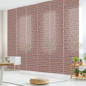 Immagine del prodotto Tende scorrevoli set - Brick Tile Wallpaper Red - 6 Pannelli