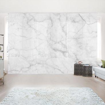 Immagine del prodotto Tende scorrevoli set - Bianco Carrara - 6 Pannelli