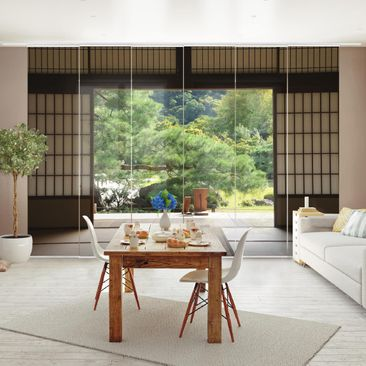 Product picture Sliding curtains set - Dojo In Harmony -...