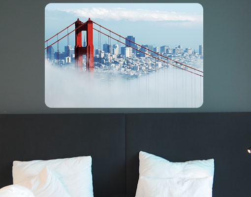 Produktfoto Selbstklebendes Wandbild Good Morning, San Francisco!