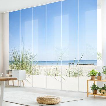Produktfoto Schiebegardinen Set - Ostseeküste - 6 Flächenvorhänge