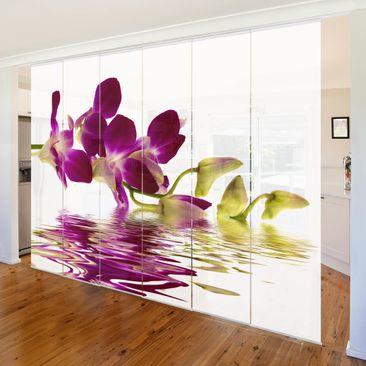 Immagine del prodotto Tende scorrevoli set - Pink Orchid Waters - 6 Pannelli