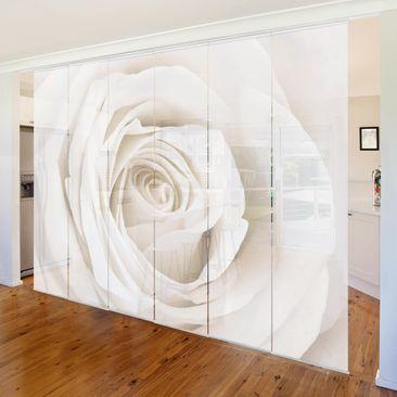 Immagine del prodotto Tende scorrevoli set - Pretty White Rose - 6 Pannelli