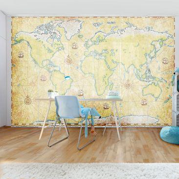 Immagine del prodotto Tende scorrevoli set - World Map - 6 Pannelli