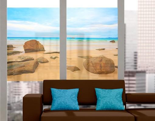 Produktfoto Fensterfolie - Sichtschutz Fenster The Beach - Fensterbilder