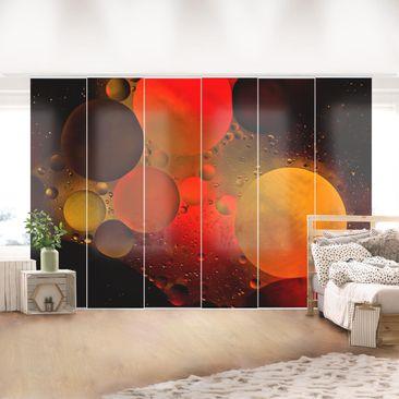 Produktfoto Schiebegardinen Set - Astronomisch - 6 Flächenvorhänge