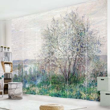 Produktfoto Schiebegardinen Set - Claude Monet - Frühlingsstimmung bei Vétheuil - 6 Flächenvorhänge