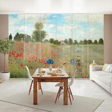 Immagine del prodotto Tende scorrevoli set - Claude Monet - Poppy Field Near Argenteuil  - 6 Pannelli