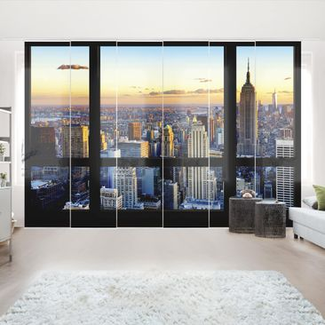 Immagine del prodotto Tende scorrevoli set - Window View - Sunrise New York - 6 Pannelli
