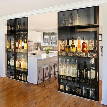 Produktfoto Schiebegardinen Set - Drink Lovers Bar -...