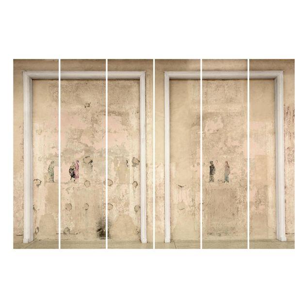 Produktfoto Schiebegardinen Set - Alte gerahmte Betonwand in Schauspielhaus - 6 Flächenvorhänge