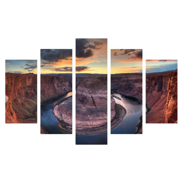 Produktfoto Leinwandbild 5-teilig - Colorado River Glen Canyon, Frontalansicht, Artikelnummer 216073-FF
