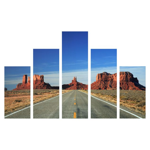 Produktfoto Leinwandbild 5-teilig - Colorado-Plateau, Frontalansicht, Artikelnummer 216074-FF