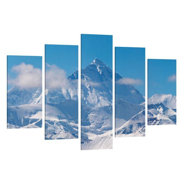 Produktfoto Leinwandbild 5-teilig - Mount Everest, Spiegelkantendruck links, Artikelnummer 216087-FL