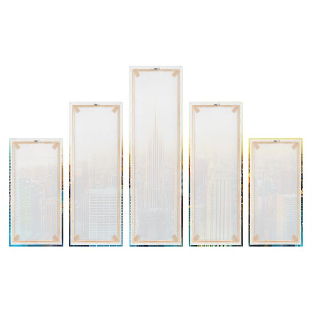 Produktfoto Leinwandbild 5-teilig - Manhattan Abstrakt, Spiegelkantendruck rechts, Artikelnummer 216117-FR