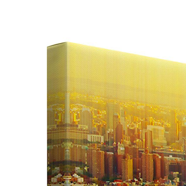 Produktfoto Leinwandbild 5-teilig - Manhattan Abstrakt, Keilrahmen Rückseite, Artikelnummer 216117-FB
