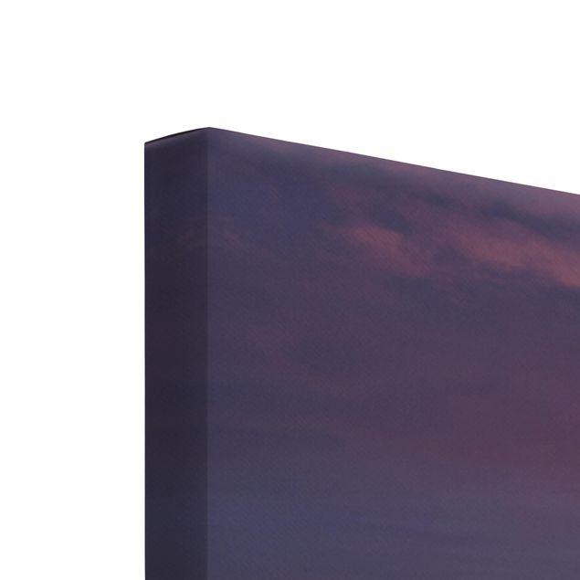 Produktfoto Leinwandbild 5-teilig - Sonnenaufgang am Strand auf Sylt, Keilrahmen Rückseite, Artikelnummer 216124-FB