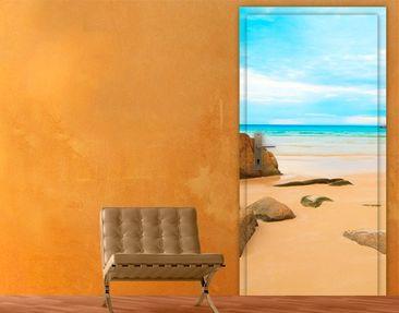 Produktfoto Türtapete Karibik - The Beach - selbstklebend