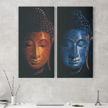 Immagine del prodotto Stampa su tela 2 parti - Delhi and Madras Buddha - Verticale 2:1