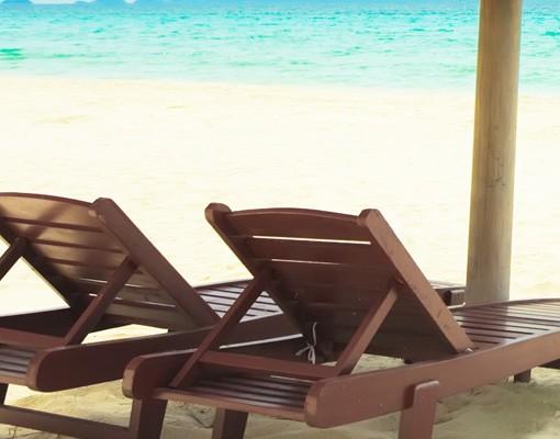 Produktfoto Selbstklebendes Wandbild Beach of Dreams Triptychon II