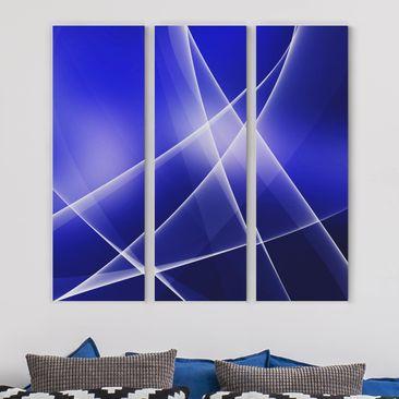 Produktfoto Leinwandbild 3-teilig - Blue Disco - Panoramen hoch 3:1, vergrößerte Ansicht in Wohnambiente, Artikelnummer 216289-XWA