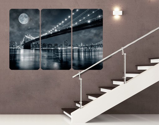 Produktfoto Selbstklebendes Wandbild Manhattan Mysteries Triptychon