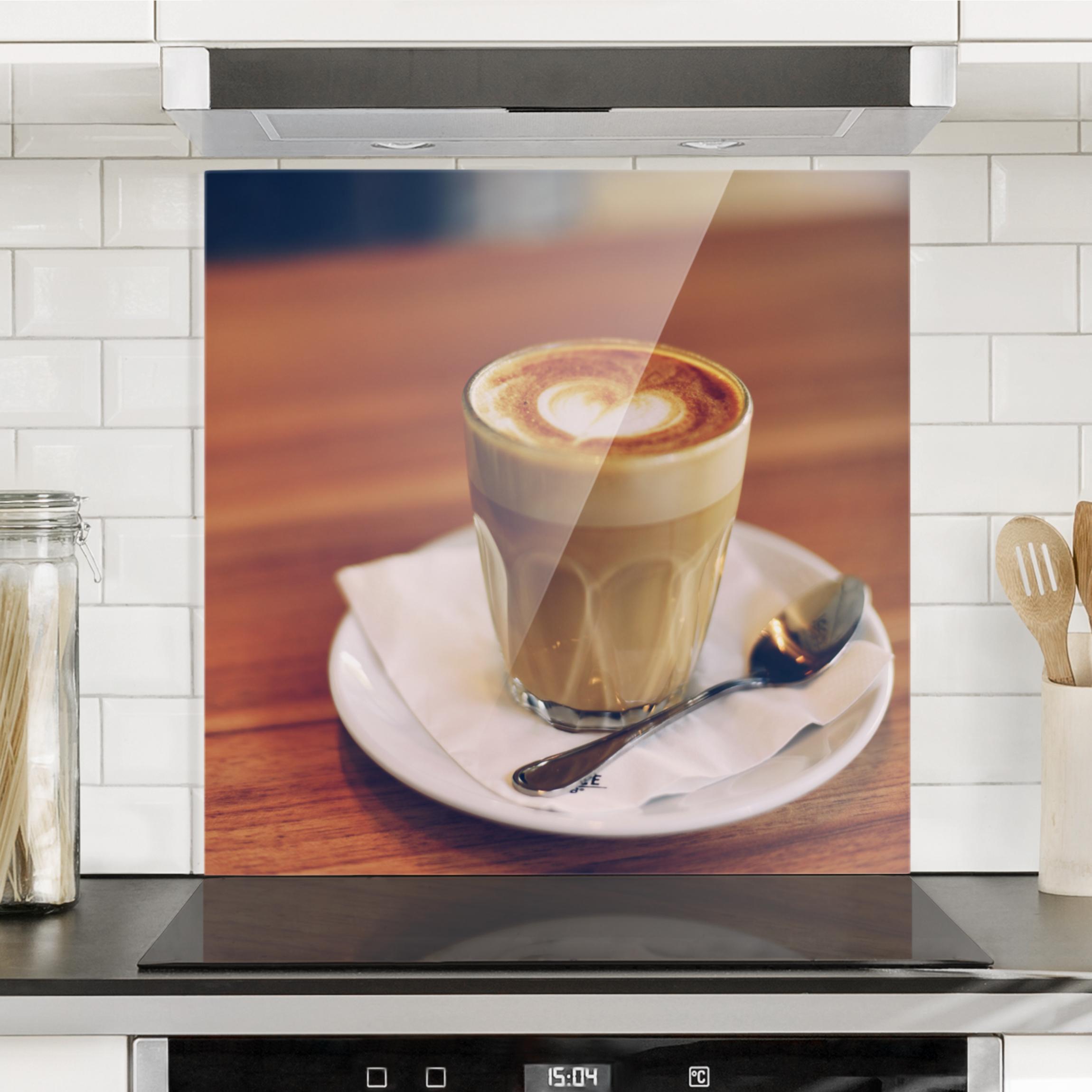 spritzschutz glas fotodruck ihr motiv als k chenr ckwand quadrat 1 1. Black Bedroom Furniture Sets. Home Design Ideas