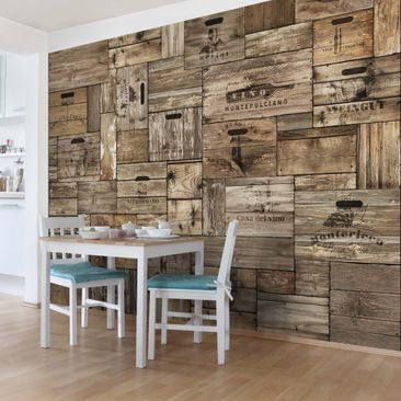 Product picture Photo Wall Mural Vintage Wooden Boxes