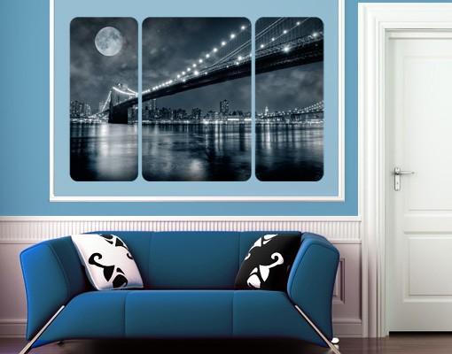Produktfoto Selbstklebendes Wandbild The Manhattan Mysteries Triptychon II