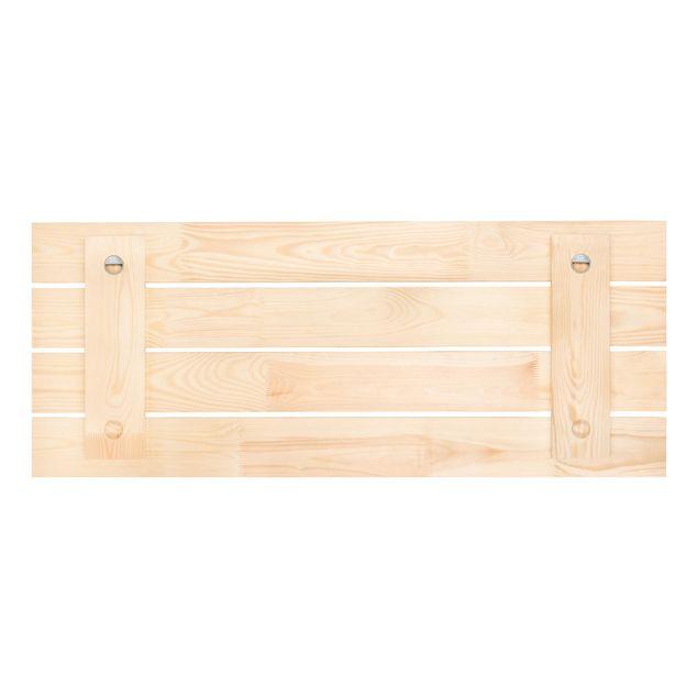 Produktfoto Wandgarderobe Holz - Zarter Magnolienzweig - Haken schwarz - Quer