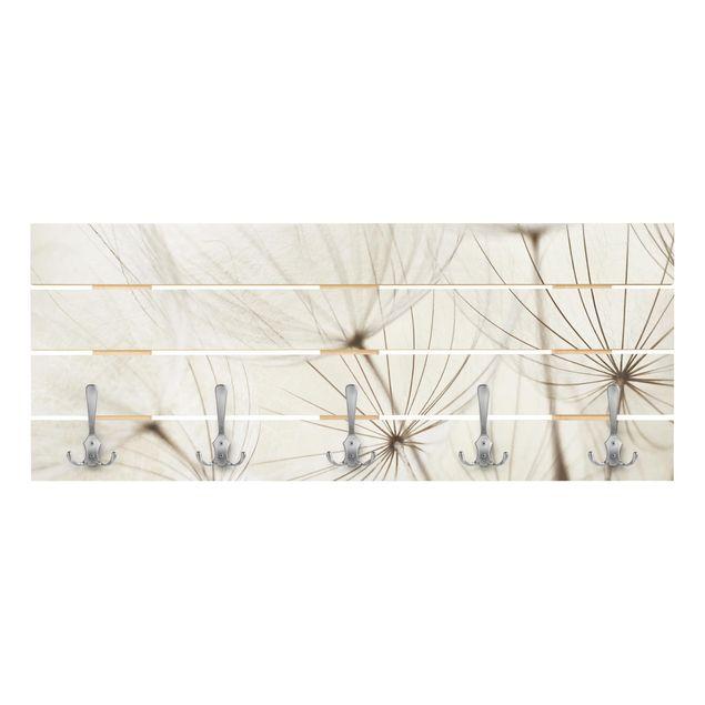 Produktfoto Wandgarderobe Holz - Sanfte Gräser - Haken chrom - Quer