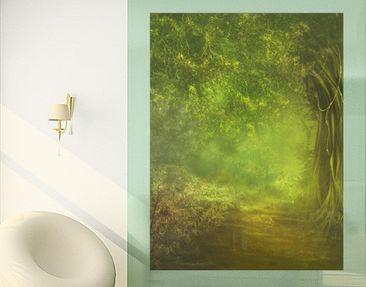 Produktfoto Fensterfolie - Sichtschutz Fenster Waldspaziergang - Fensterbilder