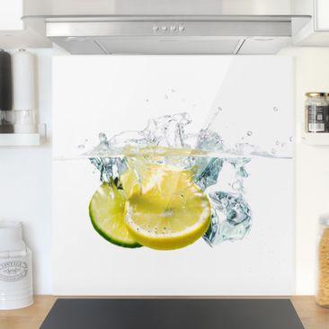 Immagine del prodotto Paraschizzi in vetro - Lemon And Lime In Water - Quadrato 1:1