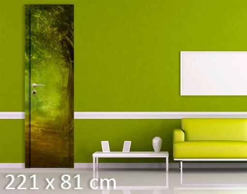Produktfoto Türtapete Wald selbstklebend - Waldspaziergang