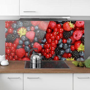 Produktfoto Spritzschutz Glas - Fruchtige Waldbeeren - Quer 1:2