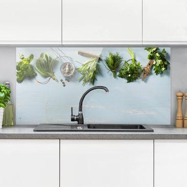 Produktfoto Spritzschutz Glas - Gebündelte Kräuter - Quer 1:2