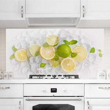 Immagine del prodotto Paraschizzi in vetro - Citrus Fruits On Ice - Orizzontale 1:2