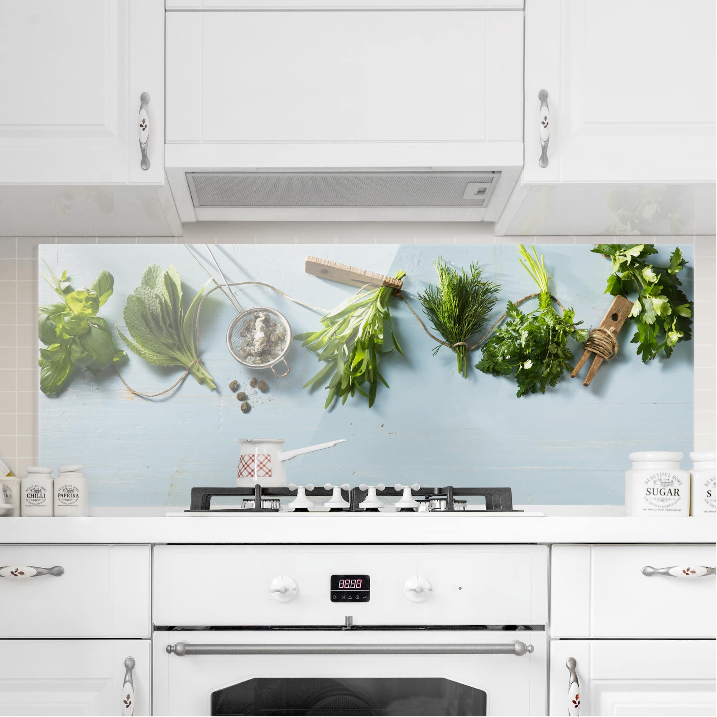 spritzschutz glas geb ndelte kr uter panorama quer. Black Bedroom Furniture Sets. Home Design Ideas