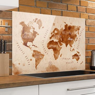 Product picture Bilderwelten Glass Splashback - World...