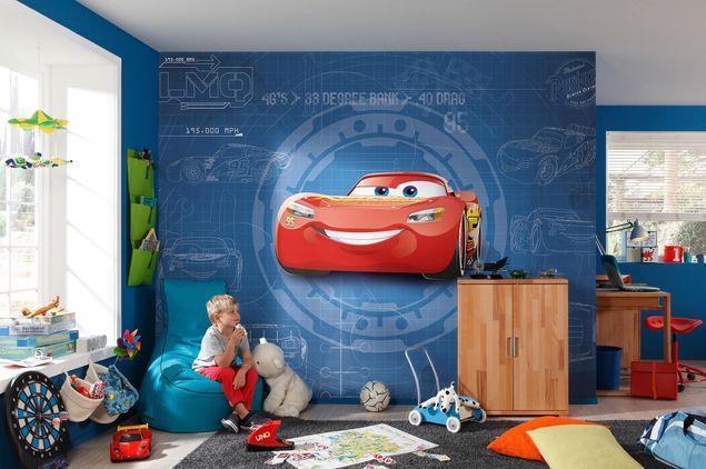 Produktfoto Disney Cars 3 Kindertapete - Blueprint - Komar Fototapete