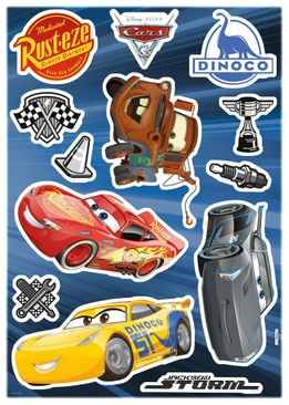 Produktfoto Disney Cars Wandtattoo Kinderzimmer - Cars 3 - Komar Deco-Sticker