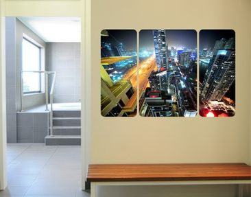 Produktfoto Wall Mural The Dubai Lights Triptychon