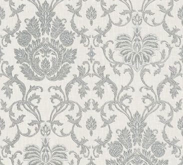 Produktfoto A.S. Création Mustertapete - Belle Epoque - Papier Grau Metallic Weiß 339010