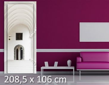 Product picture Door Wall Mural Arcaded Sidewalk